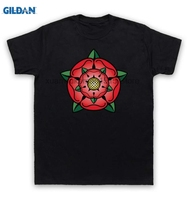 GILDAN 100 Cotton O Neck Printed T Shirt Rose T Shirt British Regal Heraldic Symbol