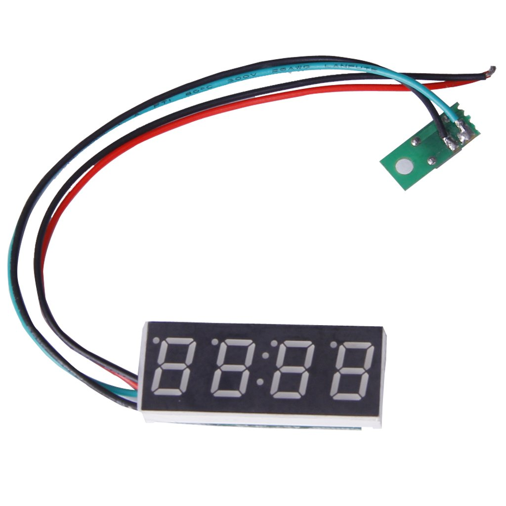 New Digital clock for motorcycle or car (format 24 H, 16 mm, adjustable, 7-30 V)