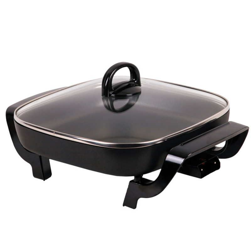 220V 3L Multifunction Electric Cooker Household Multi Cooker Non-stick Hot Pot Frying Pan Smokeless Electric Skillets non stick coating multi function frying pan for 220v to 240v at home