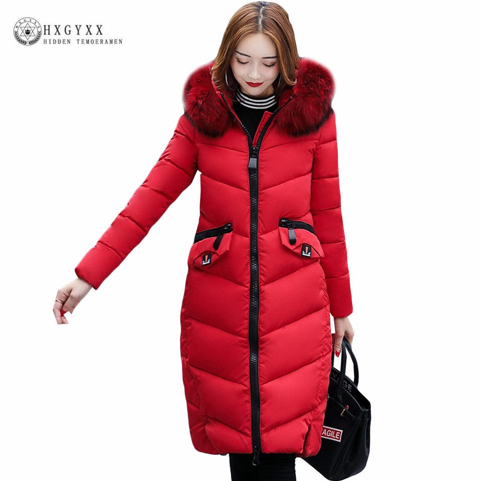new womens winter parkas 2017 plus size big fur hooded thick warm cotton padded long jackets femal pocket zipper snow coat ok402 womens winter jackets coats 2017 high quality thick warm cotton padded hooded outerwear women parkas plus size 5xl winter coat