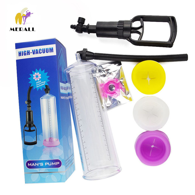 Large vacuum Penis Pump Penis Enlargement Artifact,Penis Extender and Enlarger Enhancer Erection Man Sex Toys Great Quality