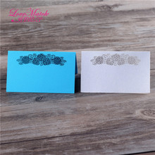 40pcs laser cut flower design table name place card wedding favors pearl paper table card wedding party favors and decotation