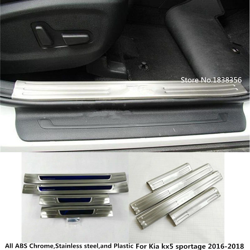 Stainless Steel Inner Door Sill Scuff Plate For Jeep Grand Cherokee 2011-2017