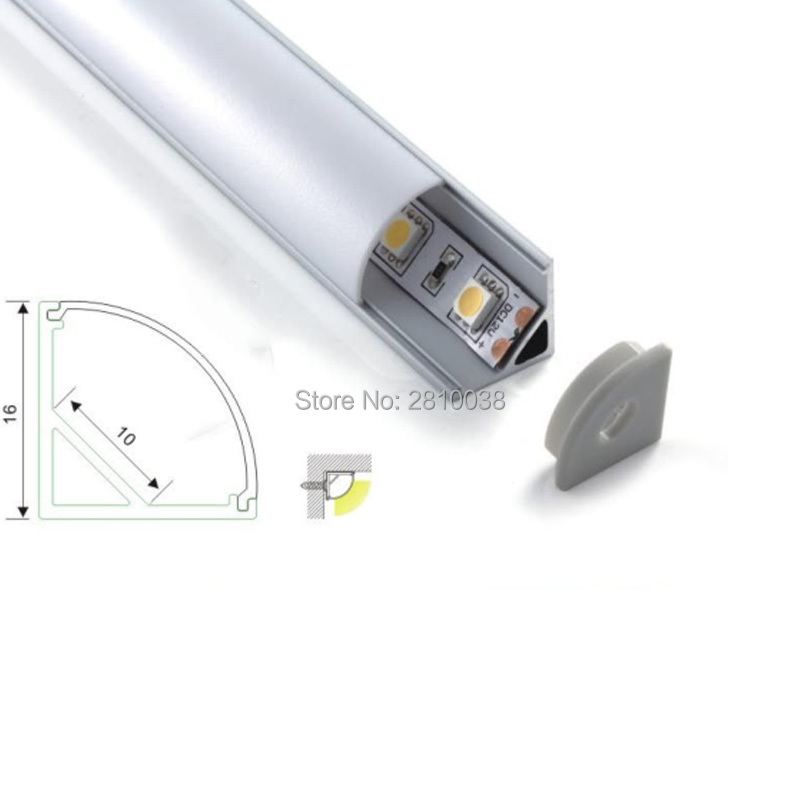 50 x 2M Sets Lot Al6063 T6 V shape led strip profile and right angle aluminium led housing profile for under cabinet light in LED Bar Lights from Lights Lighting