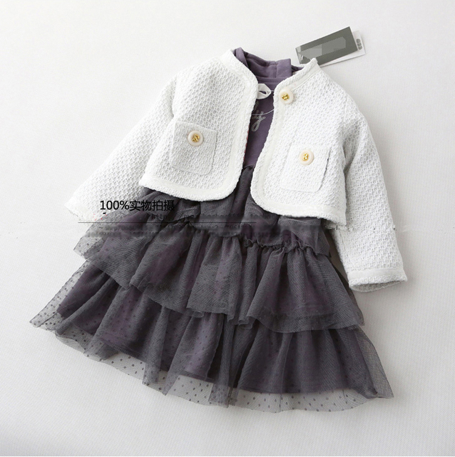 2015 new baby girls dress for spring and autumn ,girls princess dress with long-sleeve ,baby birthday cotton dress.