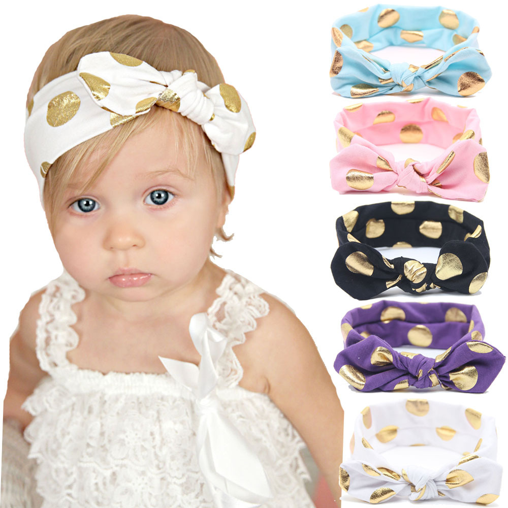 c84013bea6b Detail Feedback Questions about Gold Polka Dot Knotted Headband ...