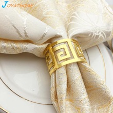 Joyathome 12pcs High-End Napkin Buckle Ring Serviette Rings Holder Dinner Towel for Table Decoration