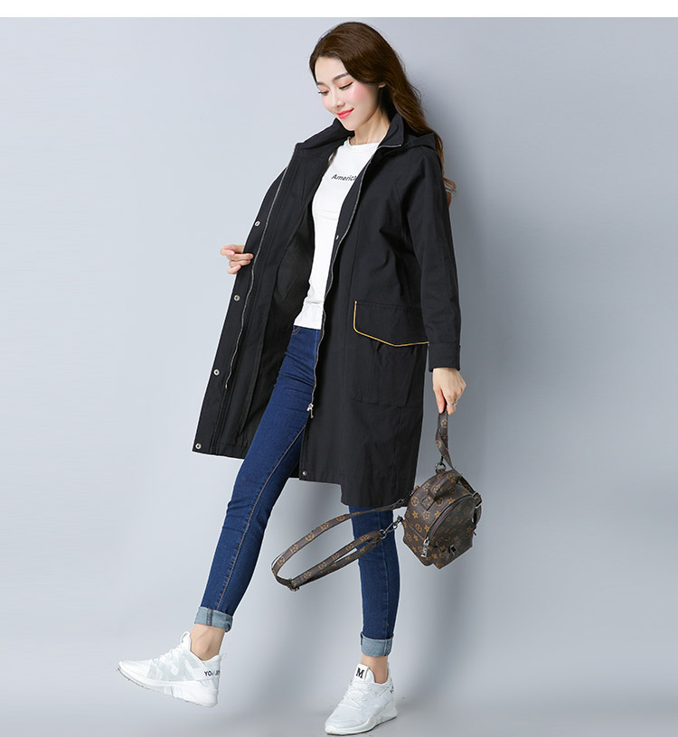 Longue À New 2018 Mode Qualité black De Yellow Haute Femmes Trench Printemps Manches Longues Automne H860 Manteau Casual Tranchée 7z1fzq