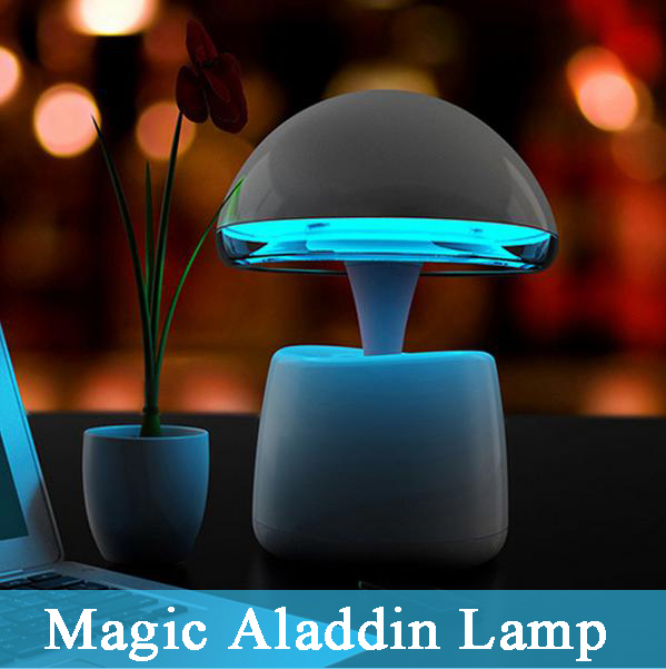Multi-function Aladdin Magic Night Light Table Lamp Remote Control Atmosphere Light Gift with Mini Wireless Bluetooth Speaker original aladdin and the magic lamp action figures toy aladdin jasmine princess model doll