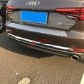 Cauda Traseira do carro Tronco Oriente Bumper Tampa Da Listra Capa Guarnição ABS Chrome Luz de Nevoeiro Para Audi A4 B9 8 W 2017