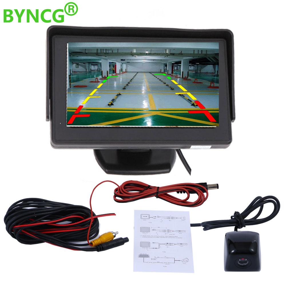 Car Monitor 4.3 Inch TFT LCD  Car Rear View Camera Metal Body Car Rearview Camera Monitor Mini Car Parking Reverse Backup Camera