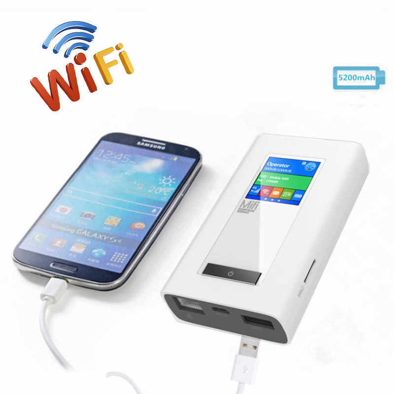 Voiture sans fil Modem 4G LTE routeur 5200Mah batterie externe 3G/4G routeur Dongle avec deux fente pour carte SIM RJ45 Port travail aux etats-unis/CA/mexique