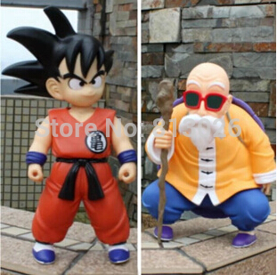 2 pièces/ensemble Dragon Ball Z Goku maître Roshi figurine de Collection en PVC jouets pour cadeau de noël brinquedos avec boîte de vente au détail