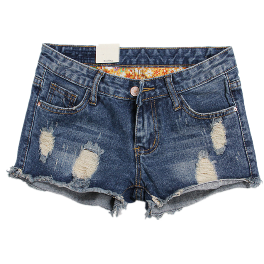 New Casual Women Short Jeans Nostalgia burr hole loose denim shorts jeans large size women Tassel  Lager size Lady jeans S2076