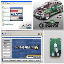2018 auto data software alldata v10.53 with mitchell on demand newest and vivid+ 24 in 1TB HDD auto repair software Best