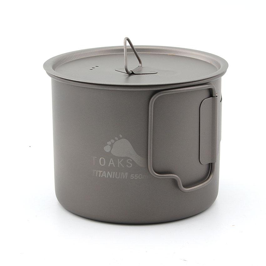 TOAKS POT-550 550ml Ultrakönnyű Titanium Pot szabadtéri - Kemping és túrázás