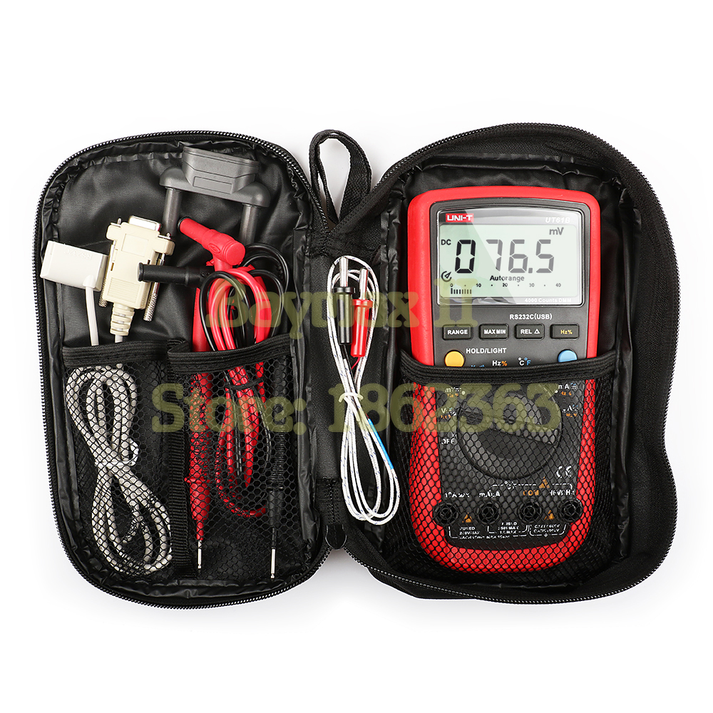 UNI-T UT61B Full Function Digital Multimeter for AC/DC Voltage Current, Ohm, Capacitance, Temperature, Hz Test with Carrying Bag носки lorpen lorpen s3wl женские