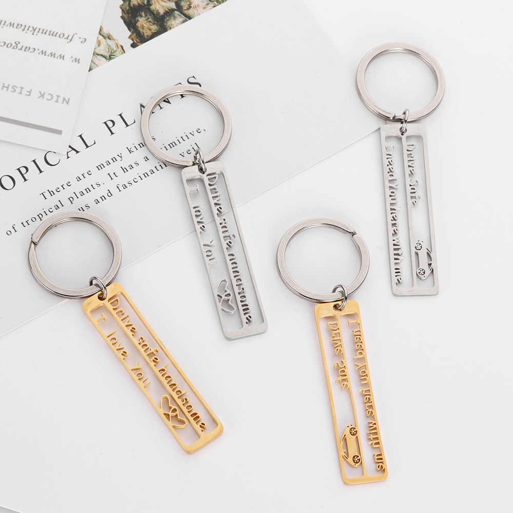 1 pc Escavar Unidade Seguro Chaveiro EU Preciso de Ti Aqui Comigo Keychain Novo Projetado Chaveiro DIY presente Para Os Homens