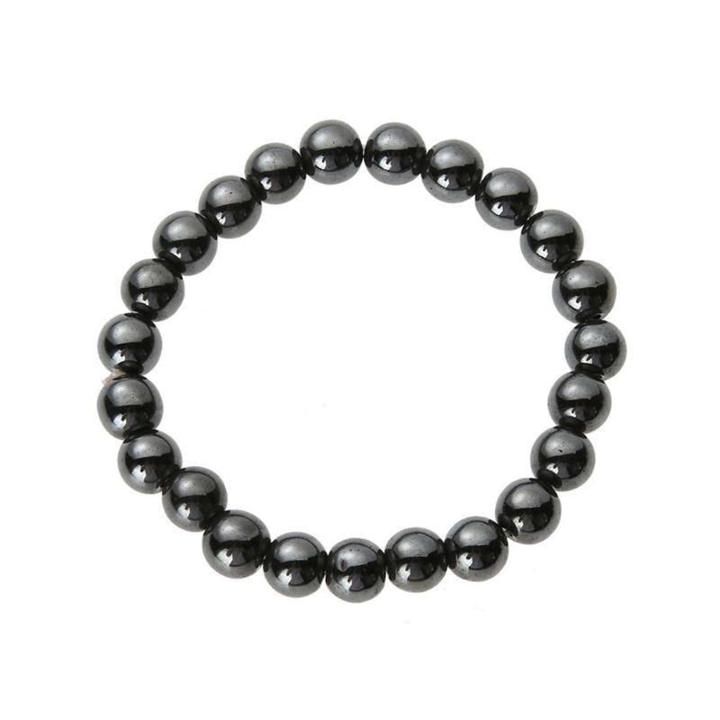Magnetic Hematite Beads Bracelet Anti-Fatigue Health Care Energy Bangle