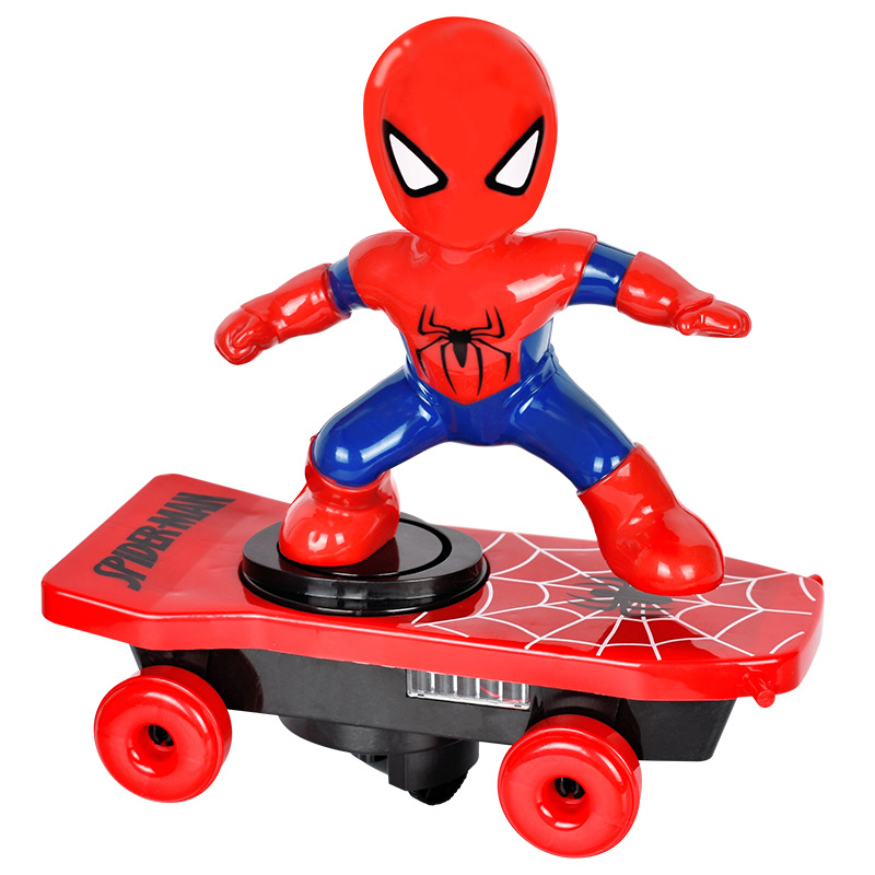 Spiderman Electric Cartoon Scooter Toy Birthday Present For Boys And Girls