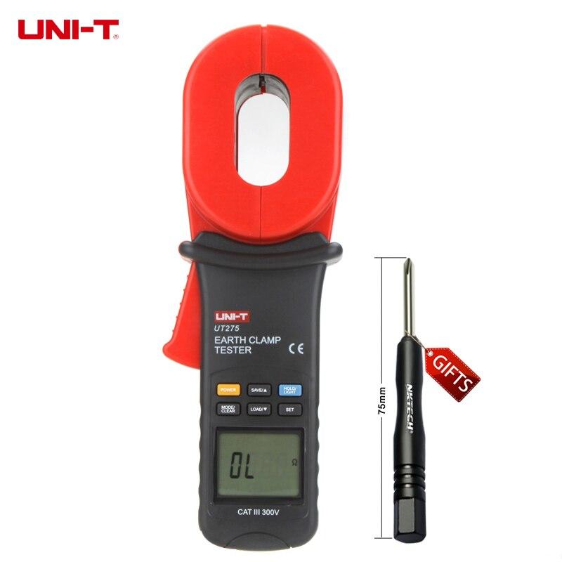 UNI-T ut275 Профессиональные Авто Диапазон зажим Сопротивление заземления Тесты ERS w/0 ~ 30A ток утечки тесты 0.01-1000ohm
