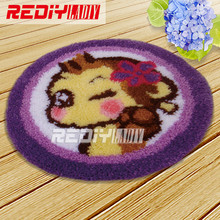 Latch Hook Rug Kit Acrylic Yarn Embroidery Cushion DIY Carpet Rug Cute Monkey Pre-Printed Canvas Wall Tapestry Home Decor Gift(China)
