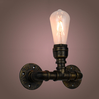Industrial Wall Sconces Creative Iron Loft Style Reminiscent Of The Water Pipes Bar Art Wall lights Sconces Wall Lighting Holder