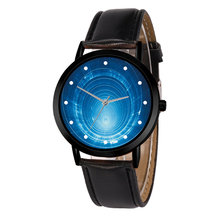 Casual Quartz Space System Watch Unique Solar Leather Strap Astronomy Planets Unisex Classy Creative Analog Watches