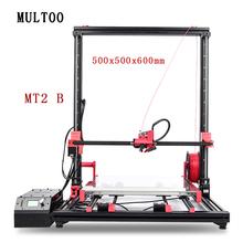 MULTOO  MT2 Printer Large Printing Size High Quality Precision 500*500*600 Full Metal Single Dual 3D Printer Precise Ball screw