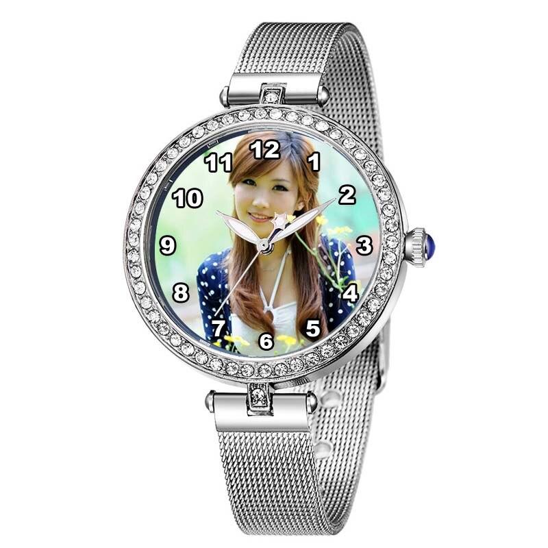 Rhinestone Women Watch Custom Photo Quartz Watches Logo Design Dropshipping 2018 A3329 Personalized Gift Fashion DIY Wristwatch