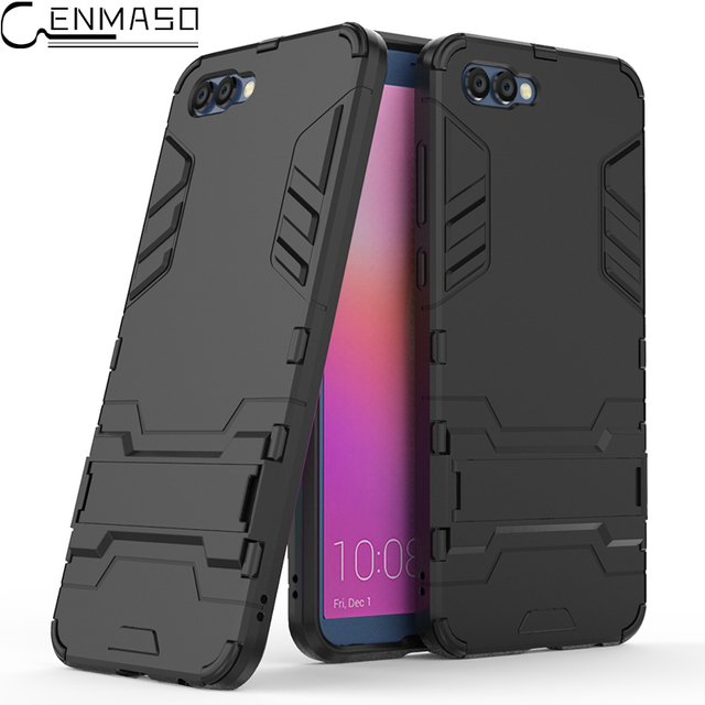 For HUAWEI Honor 6A Case Soft TPU Armor Shockproof Stand Holder Back...