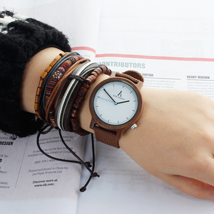Image 1 - Alk Vision Mens Houten Horloge Mannelijke Hout Canvas Nylon Strap Eenvoudige Sport Quartz Horloge Vrouwen Dames Polshorloge 2018