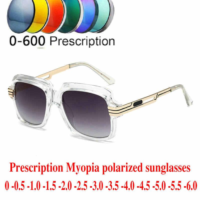 1fb6afc57e prescription Myopia Polarized Sunglasses Men Women 0 to -600 Minus Degree  Optical Oversized square polarized
