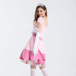 Image 4 - Deluxe Adult Princess Peach Costume Women Princess Peach Super Mario Bros Party Cosplay Costumes Halloween Costumes