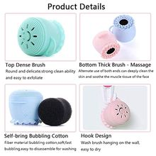 Silicon Facial Cleaning Brush Soft Octopus Shape Skin Massaging Mild Exfoliation