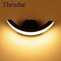 Thrisdar 8 W Étanche lampe de Mur Extérieur Jardin Porche Lumière En Aluminium Balcon Cour Hôtel Villa Éclairage Extérieur Luminaire