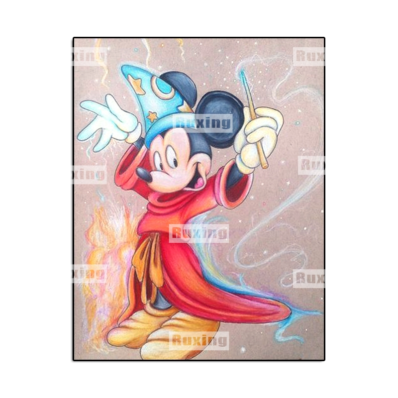 Full circular Drill 5D DIY Diamond Painting Cartoon Mickey Embroidery Cross Stitch Mosaic Rhinestone home Decor