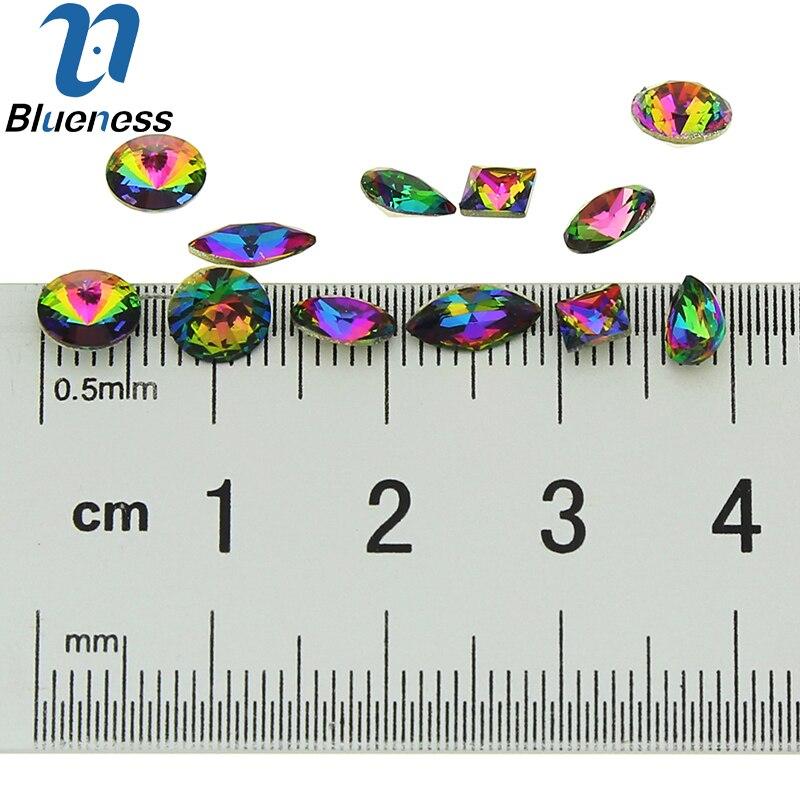 6 wzorów Glitter koła dżetów do paznokci 10 sztuk / styl 60 sztuk - Sztuka zdobienia paznokci - Zdjęcie 4