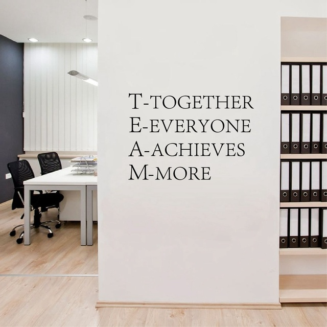 Team Work Inspirational Words Poster Motivational Wall Quotes Sticker For Office Decor