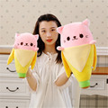 Cute Banana cat plush Toy Anime Cartoon Movie Bad Banana Man Doll Gift Toys hello Kitty cat toy birthday presents