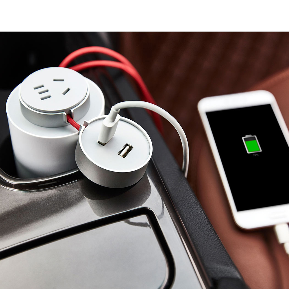 Xiaomi Mijia Car Inverter 100w Portable Power Converter 12v Dc To 220v Ac With 5v 24a Dual Usb Ports In Chargers From Cellphones