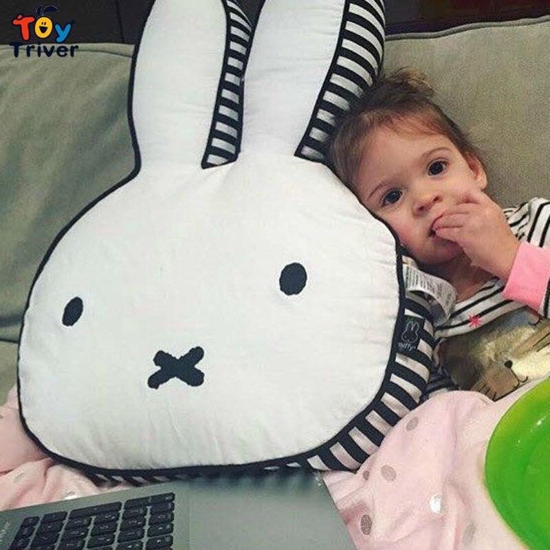 60cm INS Animal Bunny Pillow Baby Girls Kid Rabbit Cushion Home Children's Room Decoration Birthday Christmas Gift Triver
