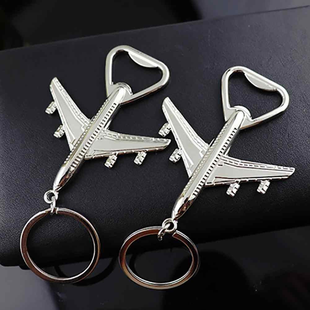 Aviões Modelo de Avião de Metal Chave Do Carro Pingente Anel Titular Chaveiro Abridor de garrafas