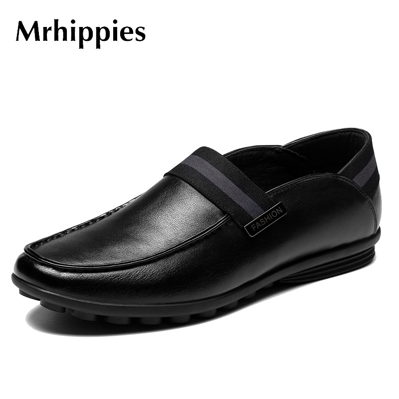 mrhippies 2017 Men Shoes Genuine Leather Loafers Slip On Fashion Casual Driving Shoes Men Mocassins Flats Shoes Zapatos Hombre fashion nature leather men casual shoes light breathable flats shoes slip on walking driving loafers zapatos hombre