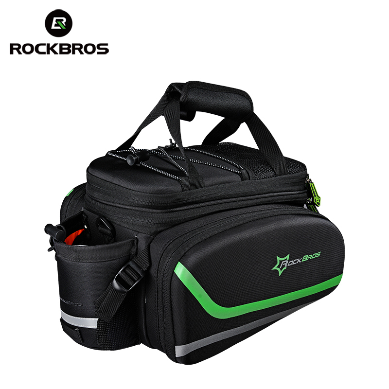 RockBros Bike Luggage Bags Bicycle Carrier bag Bike Saddle Tail Seat Trunk Bag Large Capacity Cycling Rear Pack Mtb Panniers roswheel 50l bicycle waterproof bag retro canvas bike carrier bag cycling double side rear rack tail seat trunk pannier two bags