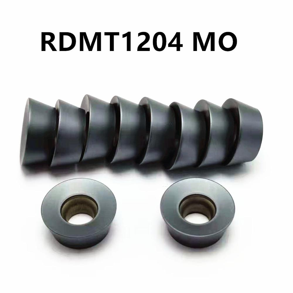 10PCS Carbide <font><b>insert</b></font> RDMT1204 MO LT30 high quality cutting lathe tool RDMT <font><b>1204</b></font> turning <font><b>insert</b></font> CNC machine tool milling tool image