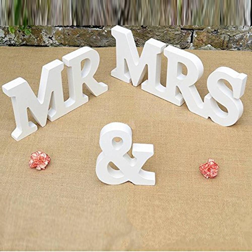 new wedding table decoration mr mrs wood letterswholesale wedding party decorations mr
