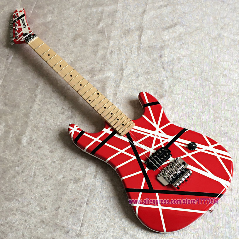Free Shipping Chinese Factory Quality Guitar Musical Instruments Chrome Hardware Guitarra Kramer Eddie Van Halen Electric Guitar Buy At The Price Of 240 00 In Aliexpress Com Imall Com