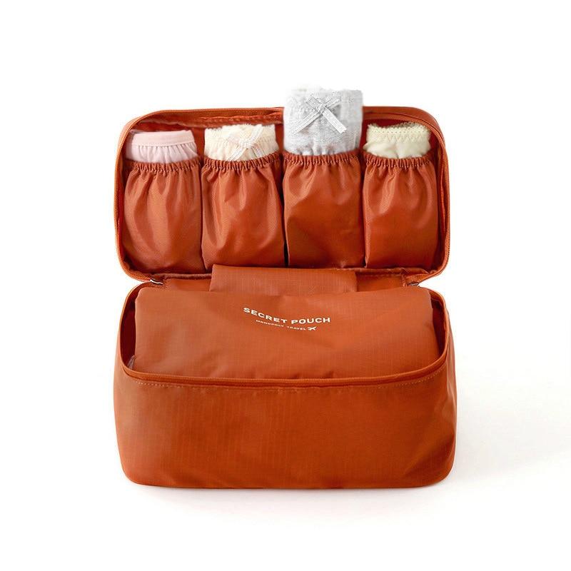 INHO CHANCY Waterproof Travel Cosmetic Bag Bra Underwear Storage Luggage Traveling New Zipper Makeup Organizer Makeup Bag цена 2017