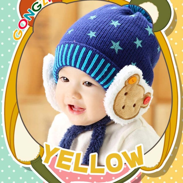 dc854736c40 Baby Winter Hat Very Warm Infant Beanie Cap for Children Boys Girls Animal  Bear Style Kids Crochet Knitted Hat 8M to 48M